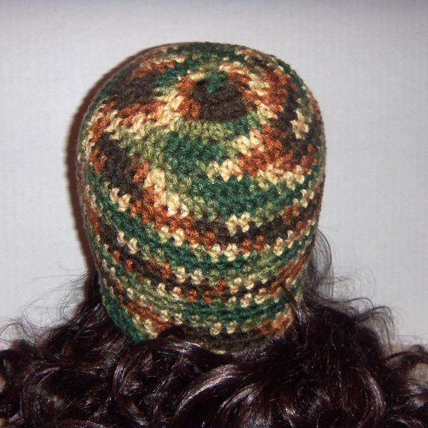 Free Crochet Pattern Hunting Hat : Camouflage Hat, Hunters Hat, Crochet Beanie, Crochet Hat ...